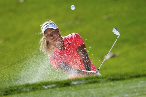 JAGER SEIEREN:Suzann Pettersen ligger på andreplass etter den tredje av fire runder i helgens Major-turnering i golf i California.