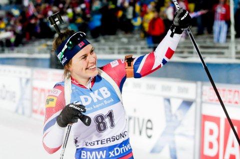 STERK PÅ STANDPLASS: Synnøve Solemdal leder verdenscupen sammenlagt etter enda en sterk prestasjon i Östersund.