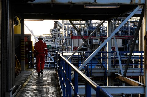 OSEBERG, NORDSJØEN 20081125: Oseberg feltsenter. Oljeplattform Foto: Marit Hommedal / SCANPIX