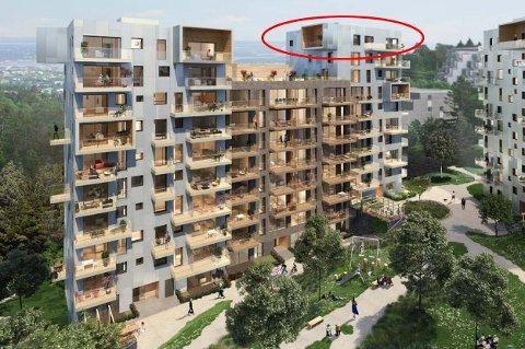 I denne penthouse-leiligheten i Bygg C på det nye store prosjekt på Røakollen, får du en Obos-opplevelse litt utenom det vanlige.