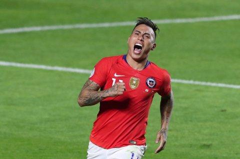 Eduardo Vargas har scoret to mål i hver av de tre siste kampene mot Peru.