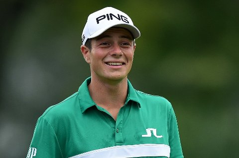 FÅR RÅD: DEn norske golfprofilen Viktor Hovland.