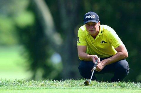 AVANSERER: Den norske golfprofilen Viktor Hovland.