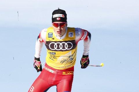 FIKK DET TUNGT: Johannes Høsflot Klæbo ble grundig slått av russiske rivaler på 15-kilometeren i Toblach tirsdag.
