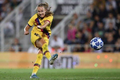 FRISK IGJEN: Caroline Graham Hansen. Her i aksjon i en Champions League-kamp mot Juventus i fjor høst.