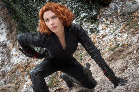 Hele Avengers-katalogen blir tilgjengelig på strømmetjenesten Disney+. Her ser vi Scarlett Johansson i rollen somBlack Widow i filmuniverset.