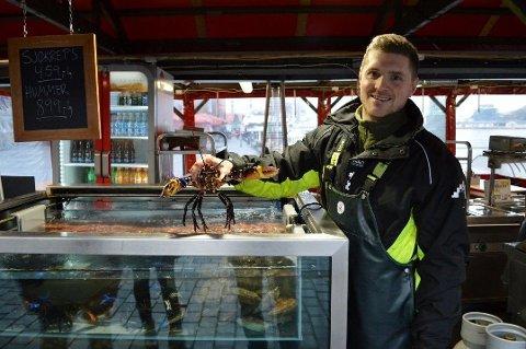 Sebastian Bernard har forsynt vestlendinger med sjømat med stor suksess i ti år. Matsatsingen i Oslo har fått en kronglete start, men bergenseren rangerer likevel Oslo foran Bergen når det kommer til forretningsdrift. Foto: Tom Hjertholm/BA