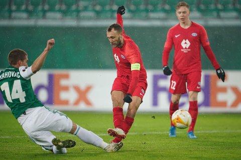 SCORET: Magnus Wolff Eikrem sendte Molde opp i ledelsen mot Rabid Wien.