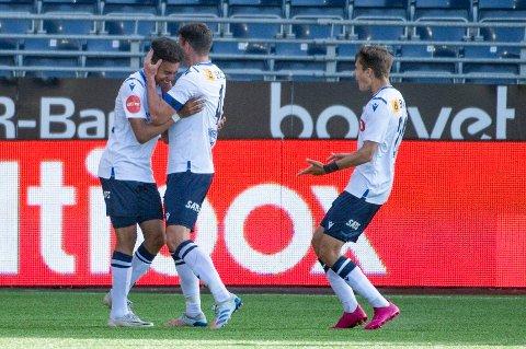 IMPONERER: Antonio Nusa scoret to mål i sin første Eliteseriekamp fra start.