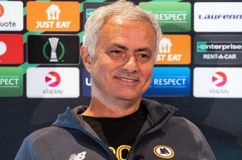 KLAR FOR KAMP: José Mourinho leder AS Roma i kamp mot Bodø/Glimt torsdag.