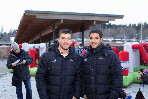 Fv: Amin Nouri og Adnan Haidar kommer begge fra Klemetsrud Foto: Simen Sundsbø