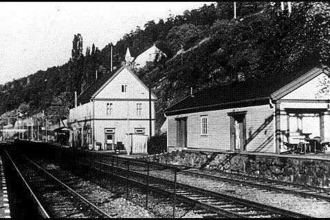 Man kunne ta toget til Bekkelaget stasjon. Foto: Bekkelaget Vel.