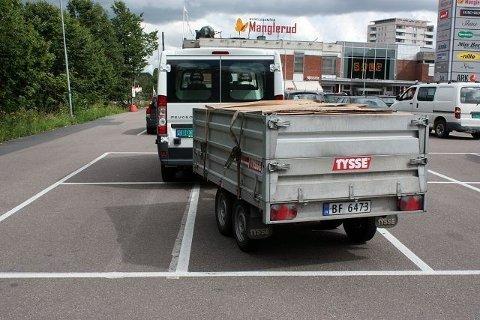 Hvor mange parkeringsplasser kan man oppta om man bare har nok billetter?