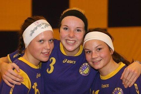 Heidi Homble (venstre), Susann Biseth Michelsen og Sunniva Hermansen representerer Tunets fremtid.