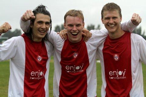 Målscorere: Vegard Stenberg (fra venstre), Sveinung Møller og Tobias Dahl sørget for målene som sendte Kåffa til en ny Norway Cup-finale.