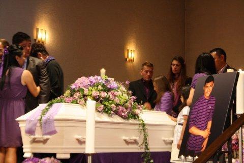 BEGRAVELSE: Mikael Troy Johansen Rasay ble gravlagt fra Grefsen kirke onsdag 10. august.