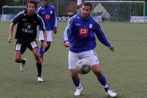Målscorer: Karim Aoudia sørget for en strålende start for sitt Kjelsås med scoring etter bare åtte minutter.