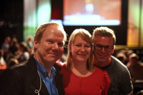 SV: Tore Aasheim (t.v.), her sammen med leder og nestleder i Grünerløkka SV, Pernille Ødegaard og Martin Steimoeggen.