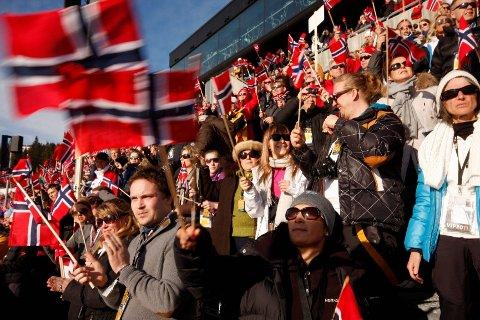 Byrådet i Oslo sier et betinget ja til å søke om OL til Oslo i 2022. Årsaken er at staten ikke vil gi noen garantier før bystyret sier ja. Her fra folkefesten under Ski-VM i 2011.