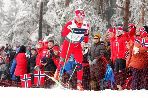 TILBAKE FOR FULLT: Landslagsløper Martin Johnsrud Sundby gikk inn til en sterk 13. plass under 15-kilometeren på Sjusjøen lørdag. Her fra VM på hjemmebane.