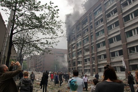 BOMBEN SPRANG: Flere muslimer opplevede hets i timene etter at bomben i regjeringskvartalet sprang og identiteten til Anders Behring Breivik ble kjent.