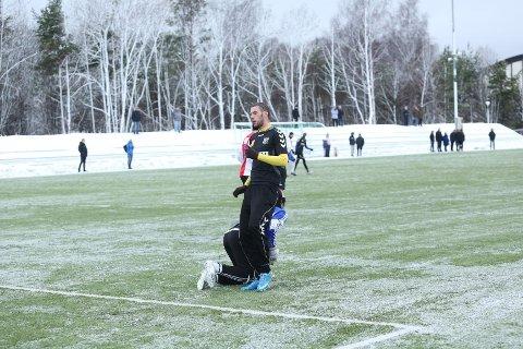 SIGNERTE: Nysigneringen Steven Cardoso (23) spilte spiss i treningskampen mot KFUM Oslo.