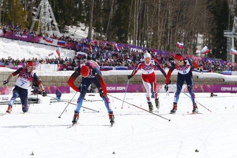 SLÅTT: Martin Johnsrud Sundby klarte ikke å hamle opp med russerne.