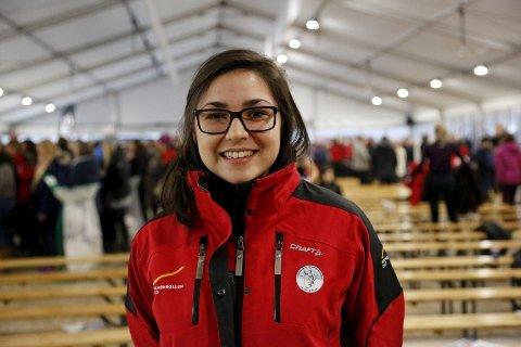 FRIVILLIG FOR FØRSTE GANG: 24 år gamle Amy Watanabe var blant dem som møtte opp til informasjonsmøte i regi av Skiforeningen sist uke.