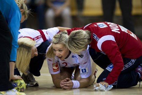 SKADET: Mari Molid har røket korsbåndet. Her i akjson for det norske landslaget.