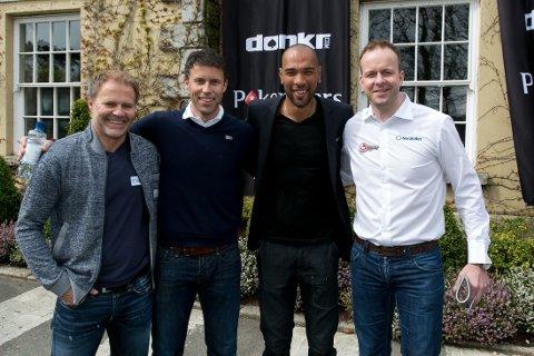 DIGGER POKER: Bent Skammlsrud, Ronny Johnsen, John Carew og Thomas Myhre er alle i Dublin for å spille hovedturneringen i norgesmesterskapet i poker.
