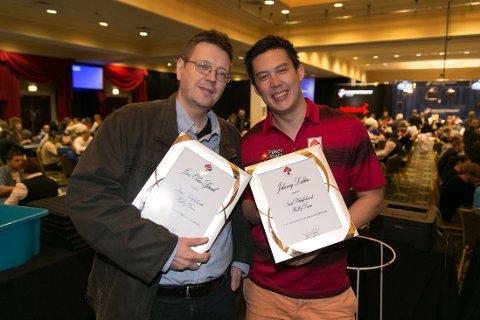 "NYE MEDLEMMER: Jan Olav Sjåvik og Johnny Lodden er Norsk pokerforbunds ""Hall of fames"" nyeste medlemmer."
