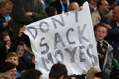 SKADEFRYD: City-fansen ber Manchester United om å beholde David Moyes.