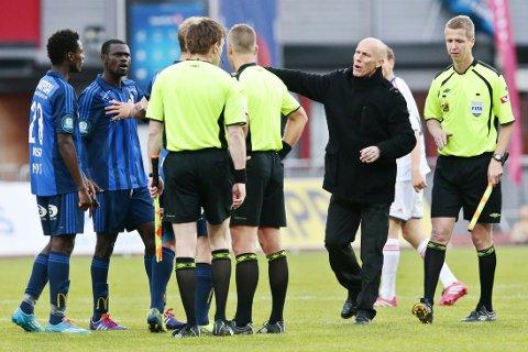 URETTFERDIG: Stabæk mente det ikke var riktig å gi rødt kort til Pablo Fontanello.