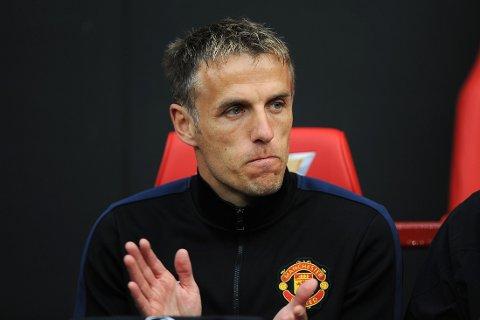 FERDIG? Engelsk presse hevder at Phil Neville ikke får fortsette som trener i Manchester United.