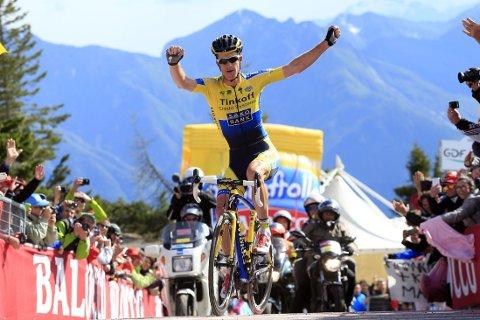 VANT: Michael Rogers vant den 20. etappen av Giro d'Italia.