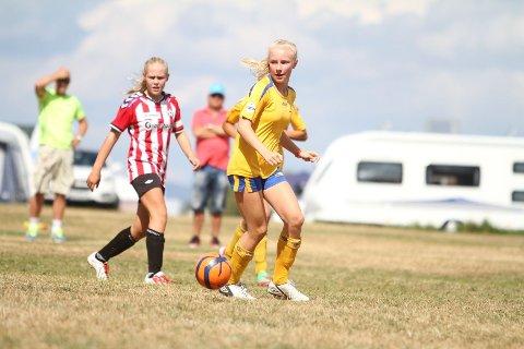 GJESTEOPPTREDEN: Rikke Kyvåg har egentlig sluttet å spille fotball, men er nå klar for 8-delsfinalen i Norway Cup med BSK.