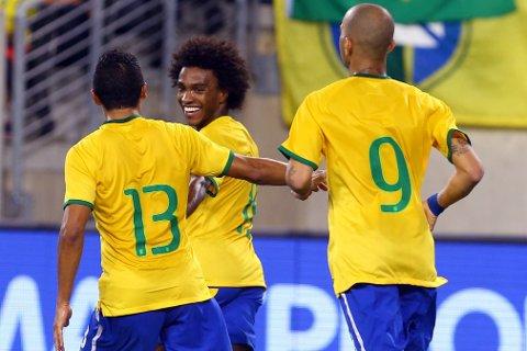 SCORET: Willian avgjorde for Brasil.