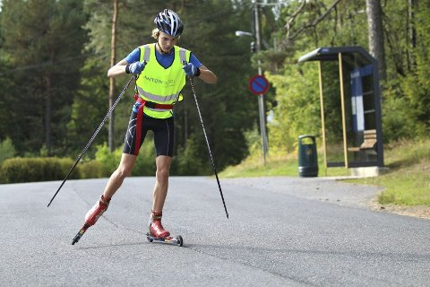 GOD TRENING: Lars Laulo (16) fra Heming er med for første gang i Team Kollen.Alle foto: Andreas Lindbæk