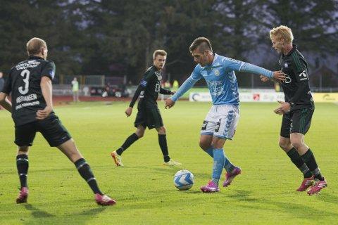 SKAFFET STRAFFE: Diego Rubio skaffet og scoret på straffe for Sandnes Ulf.