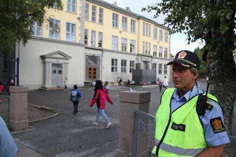 Politiførstebetjent Roy Cato Einarsen ved Stovner politistasjon.