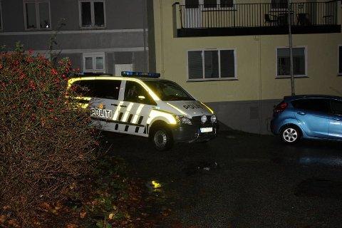 Overfallsvoldtekten skal ha skjedd utendørs her ved Nykirkeallmenningen på Nordnes. Flere politipatruljer jaktet på overgriperen sent i går kveld og i natt.