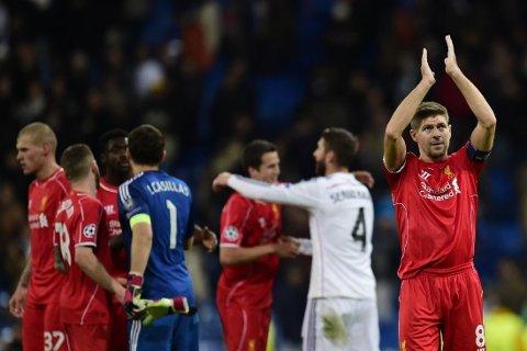 LIVERPOOL-LEGENDE: Steven Gerrard (høyre) har en spesiell plass i alle Liverpool-hjerter, men kan være på vei ut av dørene på Anfield.