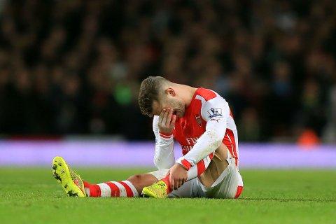 TRE MÅNEDER: Arsenal må klare seg uten Jack Wilshere