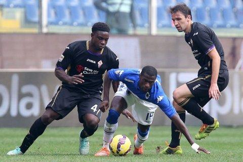 ITALIA: Micah Richards i aksjon for Fiorentina.