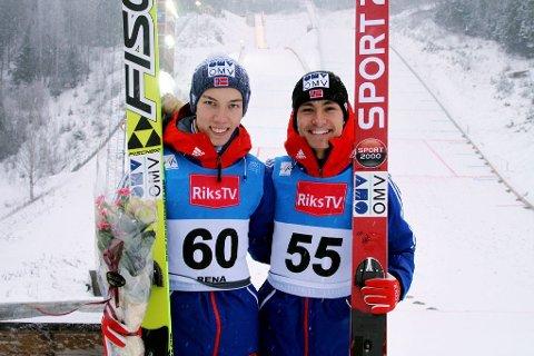 KLAR: Johann Forfang, her sammen med Phillip Sjøen, er klar for hoppuka.