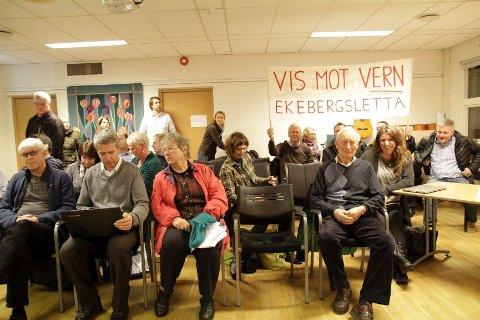 FULLT HUS: Av de mange oppmøtte i Åpen halvtime var det KFUM-planene på Ekeberg som trakk flest tilhørere.