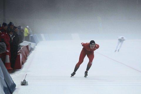 NM-GULL: Håvard Bøkko tok sitt åttende strake gull i allround-NM på skøyter på søndag. Det har ingen annen klart før ham.