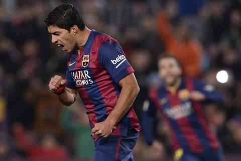 SCORET: Barcelona-stjerne Luis Suarez.
