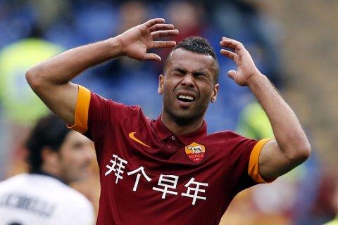 MÅLLØST: Romas Ashley Cole fortviler etter å ha misbrukt en sjanse mot Parma på søndag.