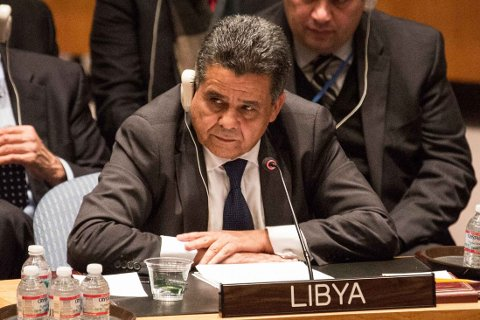 BER OM HJELP: Mohamed Elhadi Dayri, Libyas utenriksminister, ba onsdag FNs sikkerhetsråd om hjelp.